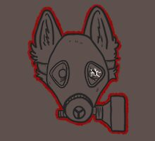 Gas Mask Wolf Broken Mens V-Neck T-Shirt