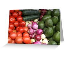 Vegetables at the Otavalo Market Greeting Card