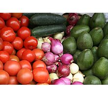 Vegetables at the Otavalo Market Photographic Print
