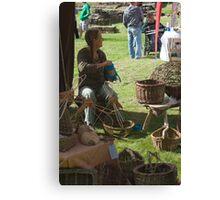 Medieval Reed Weaver Canvas Print