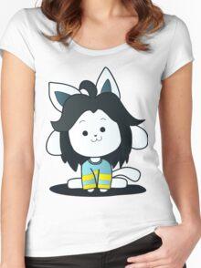 Undertale Temmie Fan-Art Women's Fitted Scoop T-Shirt