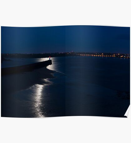 St Malo At Night Poster