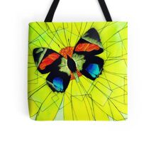 Butterfly on Flower Oil Pastel Tote Bag