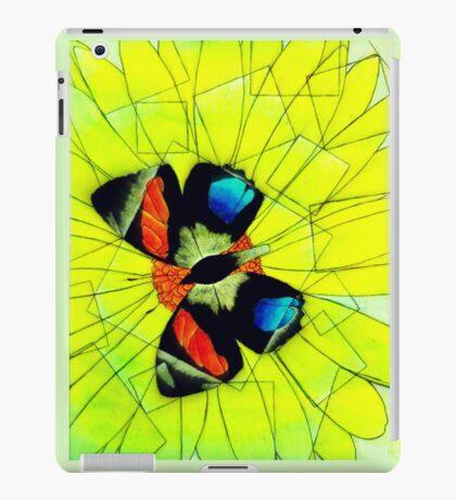 Butterfly on Flower Oil Pastel iPad Case/Skin
