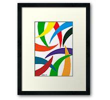 COLORED CURVES Framed Print