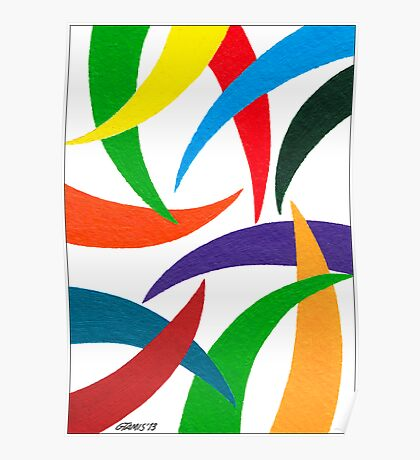 COLORED CURVES Poster