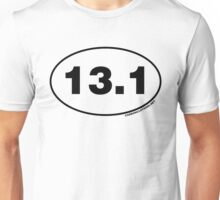 13.1 Miles Oval Sticker Unisex T-Shirt
