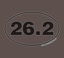 26.2 Miles Oval Sticker Kids Clothes