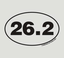 26.2 Miles Oval Sticker by CarbonClothing