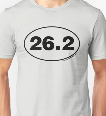 26.2 Miles Oval Sticker Unisex T-Shirt