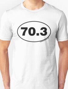 70.3 Miles Oval Sticker T-Shirt