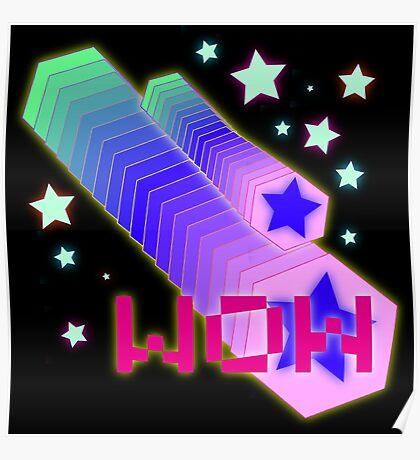 Vaporwave-WOW Poster