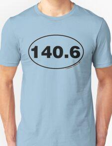 140.6 Miles Oval Sticker T-Shirt