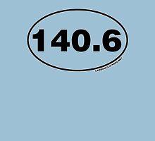 140.6 Miles Oval Sticker Unisex T-Shirt