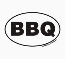 BBQ Oval Sticker by CarbonClothing
