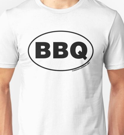 BBQ Oval Sticker Unisex T-Shirt