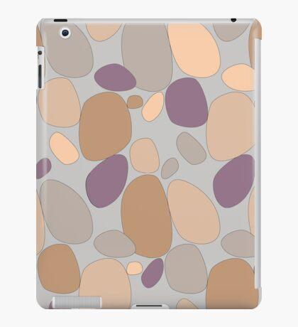 Pebble pattern in grey and purple tones (ipad case) iPad Case/Skin