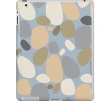 Pebble pattern in beige and blue tones (ipad case) iPad Case/Skin