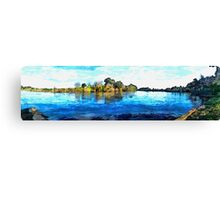 River Panarama Canvas Print