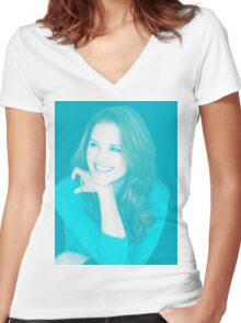 Sarah Drew Women's Fitted V-Neck T-Shirt