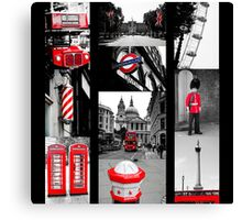 Icons of London Canvas Print