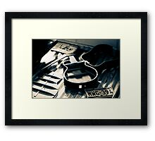 Guitar in four parts Framed Print