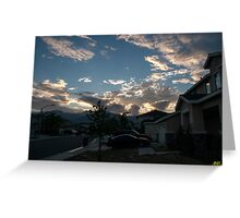 Neighborhood Sunrise Greeting Card
