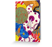 Surreal Abstract Two Greeting Card
