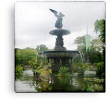 Central Park Angel Canvas Print