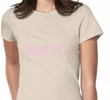 Bike Stripe Pink Womens Fitted T-Shirt