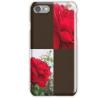 Red Rose Edges Blank Q3F0 iPhone Case/Skin
