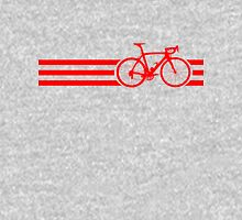 Bike Stripes Red Unisex T-Shirt