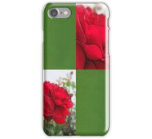 Red Rose Edges Blank Q5F0 iPhone Case/Skin