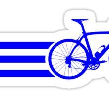 Bike Stripes Blue Sticker
