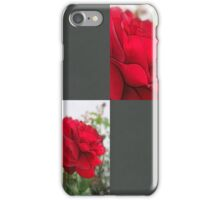 Red Rose Edges Blank Q6F0 iPhone Case/Skin