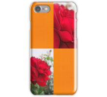Red Rose Edges Blank Q8F0 iPhone Case/Skin
