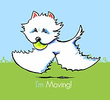 I'm Moving Westie New Address Announcement by offleashart