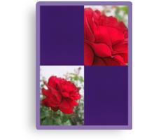Red Rose Edges Blank Q9F0 Canvas Print