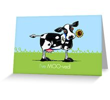 I've Moved Cow New Address Announcement Greeting Card