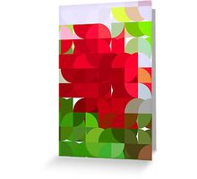Red Rose Edges Abstract Circles 1 Greeting Card