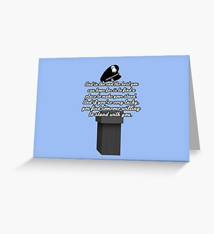 Kate Beckett stand with you Greeting Card