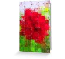 Red Rose Edges Abstract Circles 2 Greeting Card