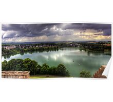 Storm Clouds over Linlithgow Loch Poster