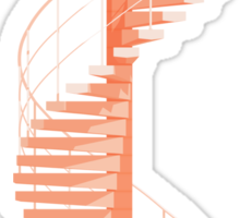 Helical Stairs Sticker
