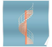 Helical Stairs Poster