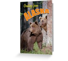 Greetings from Alaska Greeting Card