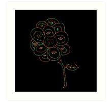 Eye Flower Mystify  Art Print
