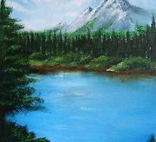 Bob Ross inspired by Jeanette  Treacy