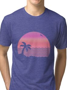 Wiped Out! Sunset Fade Tri-blend T-Shirt