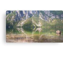 Hillside river reflections Metal Print